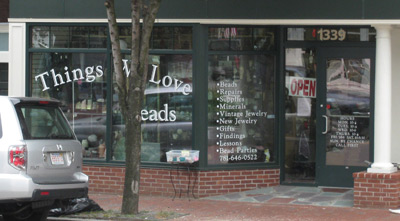 the store front from Massachusetts Ave