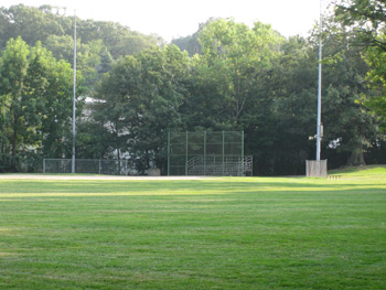 the main baseball diamond