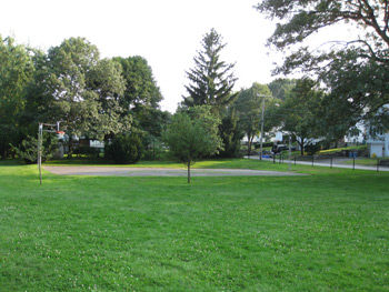 the basketball court at Rindge Park